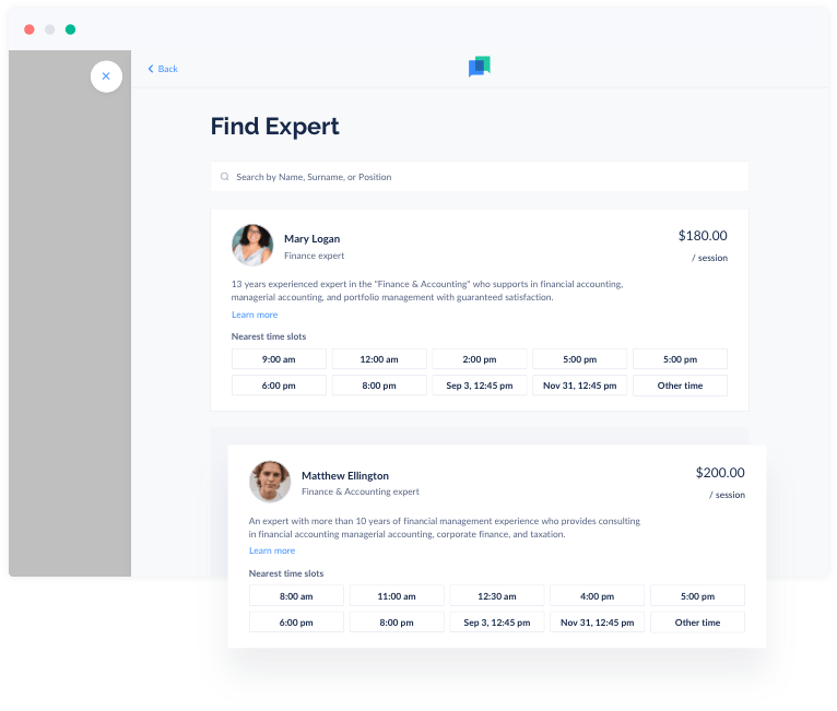 Convert more clients with a booking panel