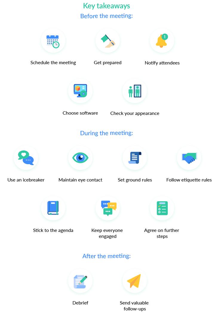 key takeaways on effective meetings