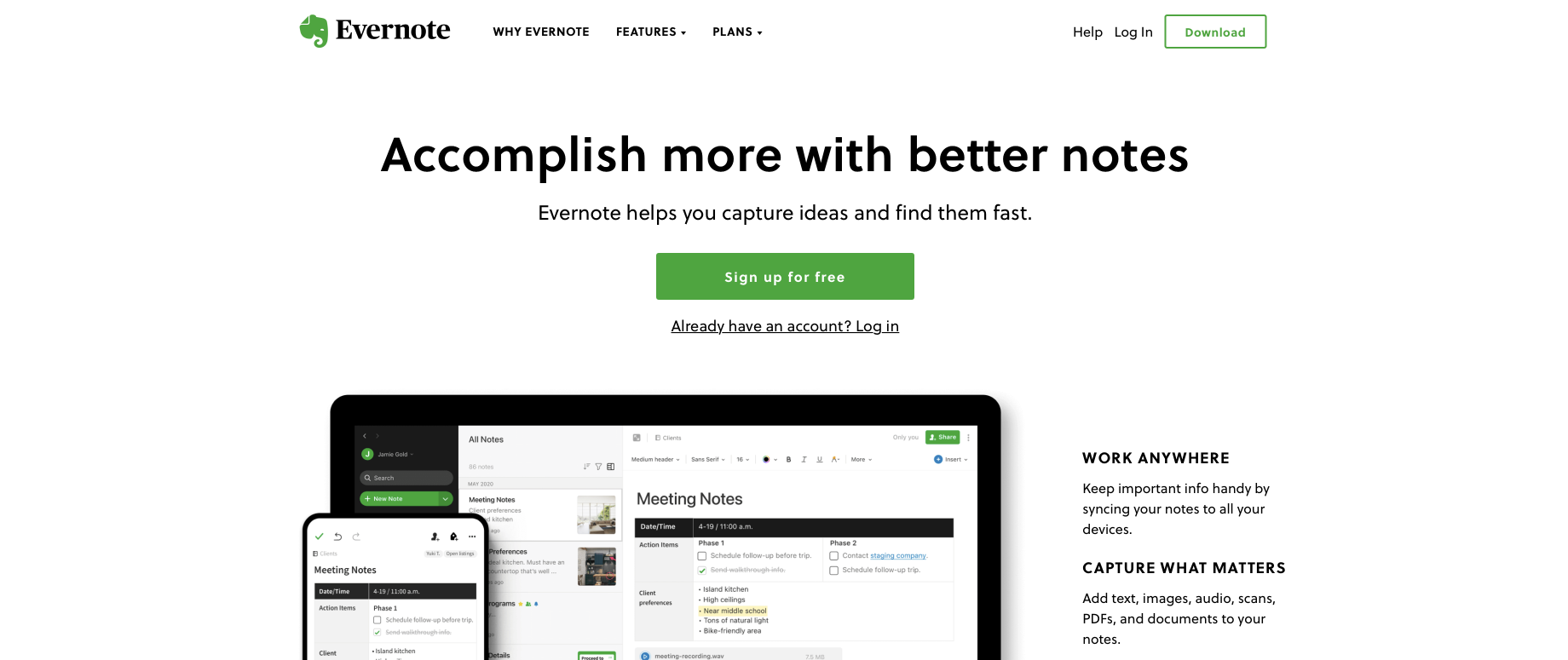 Consulting software: Evernote