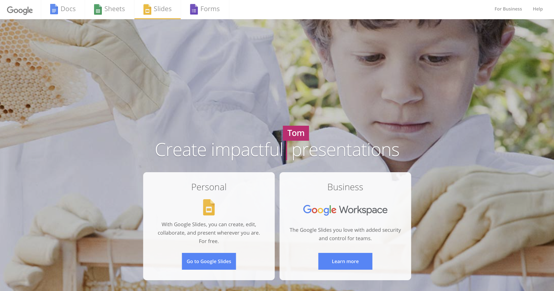 Consulting software: Google Slides