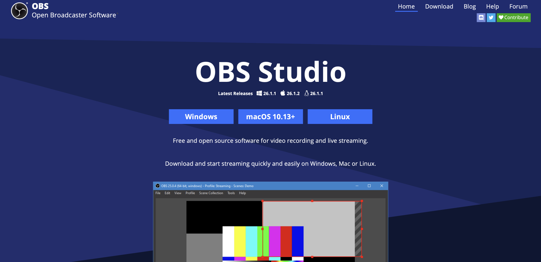 Consulting software: OBS studio