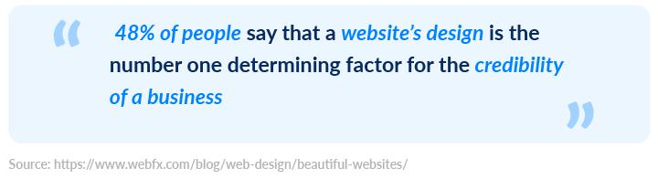 Quote on website design