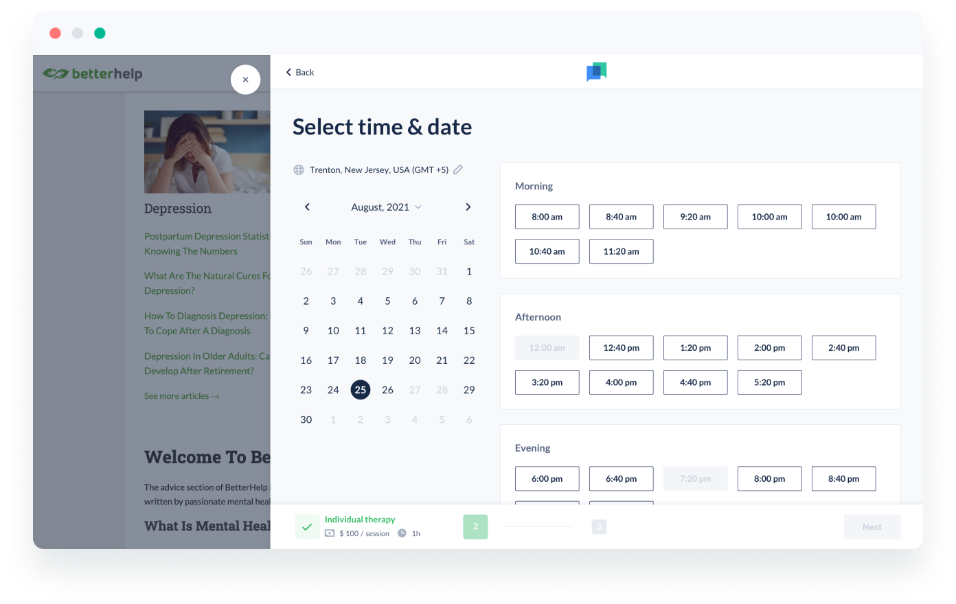 client retention with booking widget